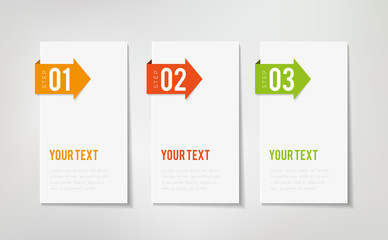 Three Steps Infographics Wall mural