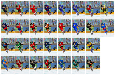 National Hockey League ice hockey players set