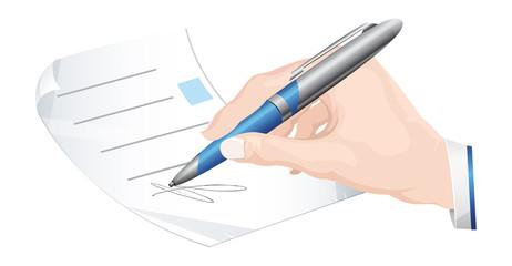 Sign Document - Illustration