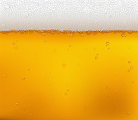 Beer bubbles close-up. Vector background.
