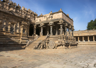 View on the chariot part of Mandapam.