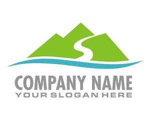 green mountain view logo image vector