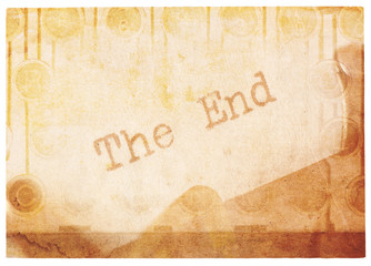 The End, Old And Faded Collage