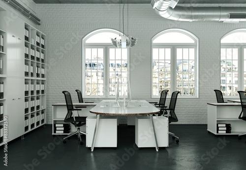modernes b ro im loft stockfotos und lizenzfreie bilder auf bild 83372590. Black Bedroom Furniture Sets. Home Design Ideas