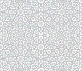 Islamic Star Pattern Light Grey Background Vector Illustration