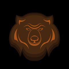 Bear head emblem