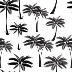 Palm Leaf Seamless Pattern Background Vector Illustration