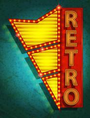 retro icon - signboard / Vector Poster