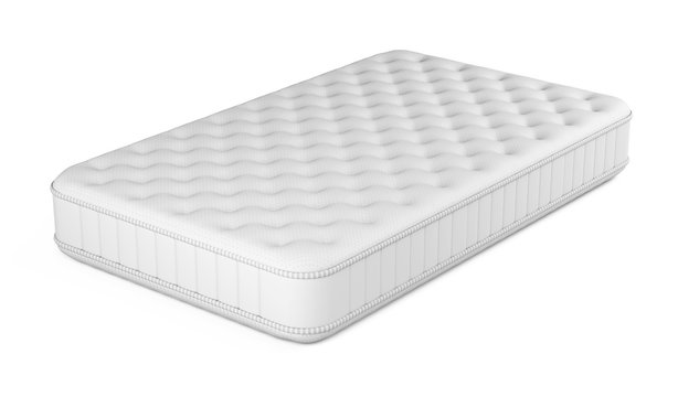 Mattress isolated on white