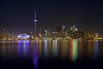 Papiers peints Toronto toronto skyline at night