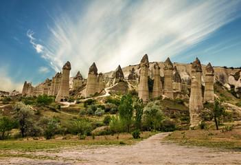 Cappadocia, Anatolia, Turkey. Goreme national park. Wall mural