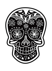 sugar skull isolated on white background