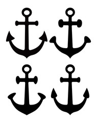 set of anchor silhouettes