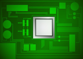 Vector : Electronic circuit board background
