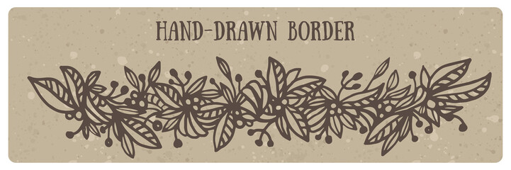Hand drawn floral border