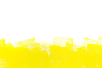 yellow stroke of paint roller