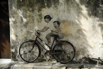 Penang street art Wall mural