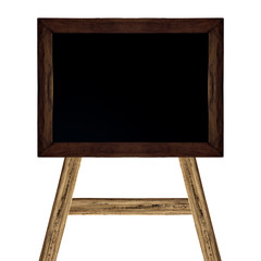 School blackboard on white