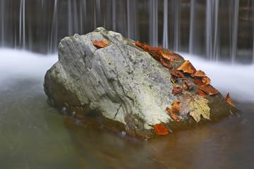 Großer Stein im Fluss