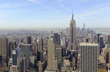 Skyscrapers and concrete jungle of Manhattan, New York
