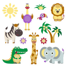 Cute Vector Set of Animals