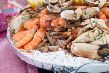 Seafood platter for party