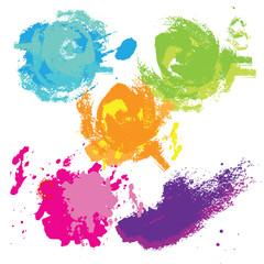 Watercolor blot. Colorful splashes