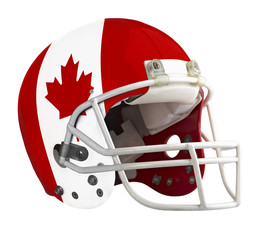 Flagged Canada American football helmet