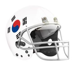 Flagged South Korea American football helmet