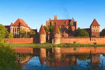 Papiers peints Chateau Malbork castle, Teutonic Knights' fortress, Poland.