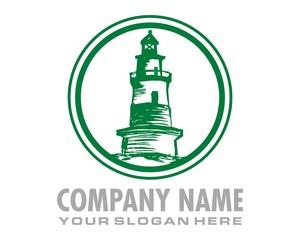 green lighthouse logo image vector