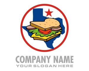 sandwich texas logo image vector