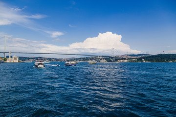 Istanbul. Ortakoy Mosque and Bosphorus Bridge