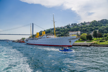 Savarona - Turkish President's yacht in the Bosporus