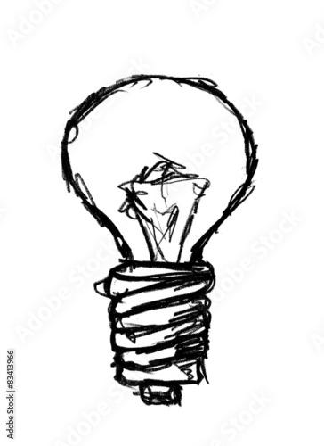 ampoule lectrique dessin photo libre de droits sur la. Black Bedroom Furniture Sets. Home Design Ideas