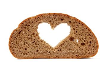 Brotscheibe mit Herz