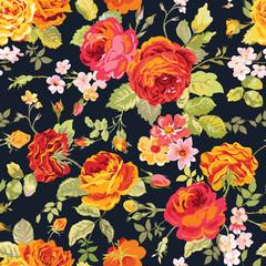 Vintage Floral Background - seamless pattern for design, print