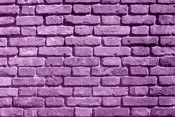 Background of purple brick wall pattern texture