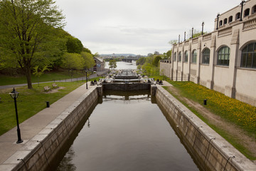 Rideau Canal locks in Ottawa