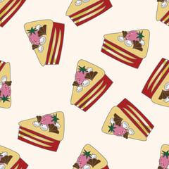 decorating cake 10, cartoon seamless pattern background