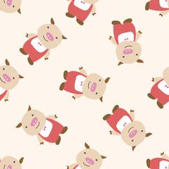 Three Little Pigs , cartoon seamless pattern background