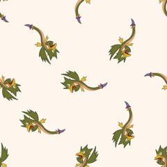 bizarre monster , cartoon seamless pattern background