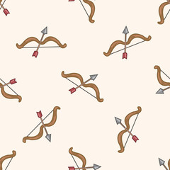 weapon , cartoon seamless pattern background