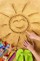 Summer beach smiling sun