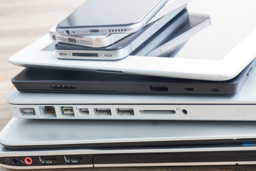 pile of devices