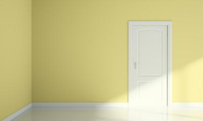 door and wall corner blank room interior design