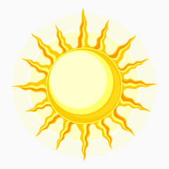 Sun symbol isolated on white