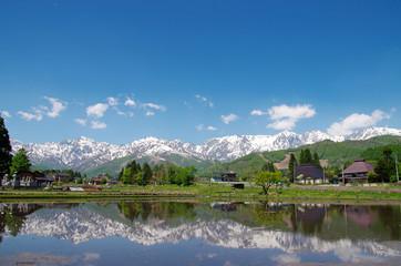 白馬村の田園風景