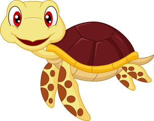 Cartoon baby cute turtle