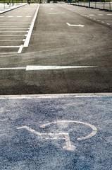 Plazas de aparcamiento para minusválidos